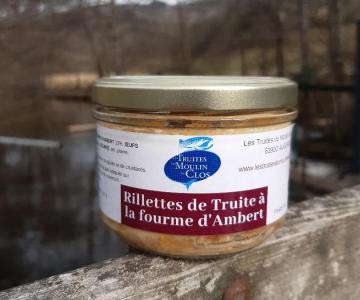 Rillette de truite à la fourme d'Ambert 180 grammes - 8€ (44.44€ le kilo)