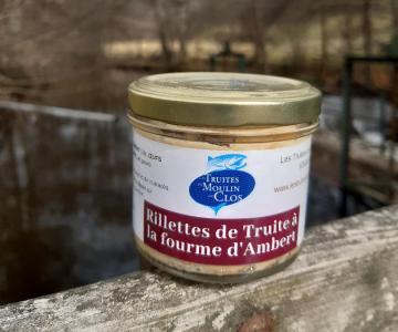 Rillette de truite à la fourme d'Ambert 90g - 4,6€ (51€/kg)